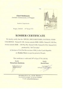 Košér certifikát